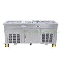 Die 110V 2 + 10 gebraten eis rolle maschine mit R410A Kältemittel