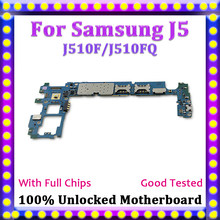 Disassemble 100% Unlocked Dual/Single SIM Logic Main Board For Samsung Galaxy J5 J510F/J510FQ 16GB Motherboard With Full Chips(China)