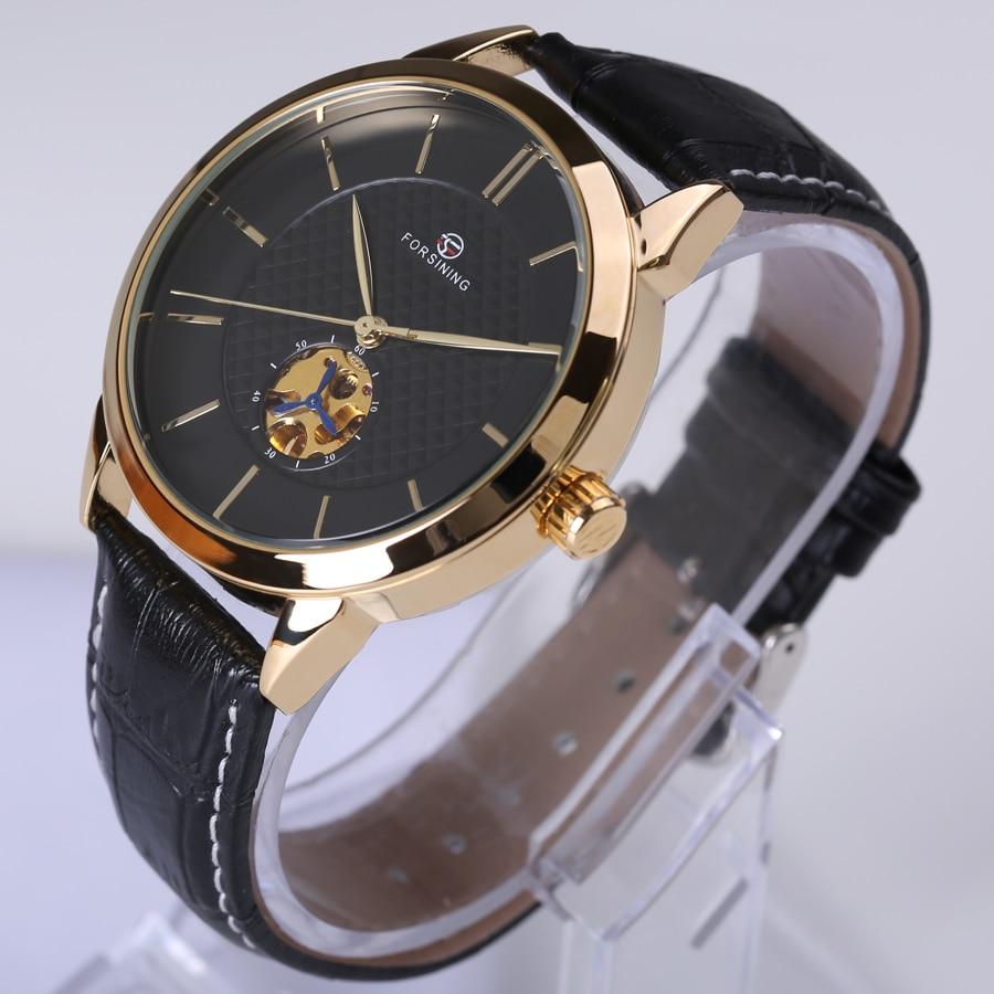 Forsining Classic Business сериясы Black Golden Case - Ерлердің сағаттары - фото 2