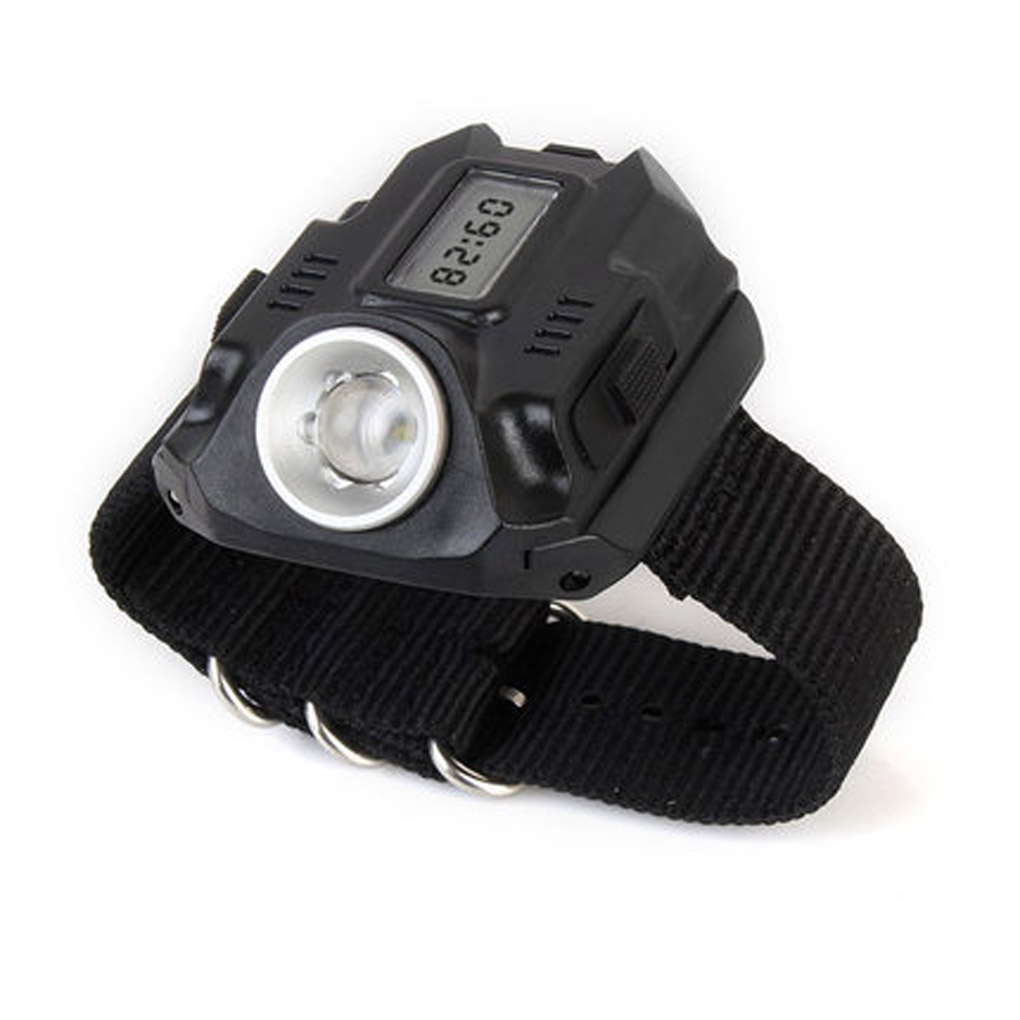 Portable XPE LED 1000LM Display Rechargeable Wrist Watch Flashlight Torch Waterproof 3 in 1 bright watch light flashlight with compass outdoor sports mens fashion waterproof led rechargeable wrist watch lamp torch