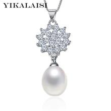 YIKALAISI 2017 fine brand100% natural freshwater pearl choker pendant neckalce 925 sterling silver jewelry for women wedding