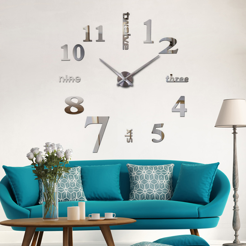 2018 супер голям diy стенен часовник - Декор за дома - Снимка 5