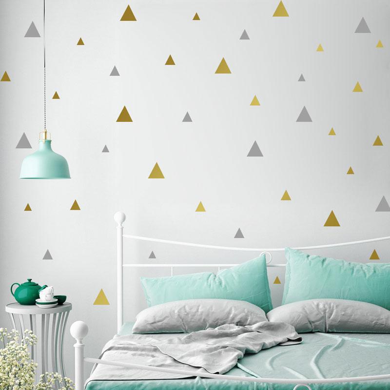 Multi-Size Triangular Vinyl Removable Wall Stickers För Barn Rum - Heminredning