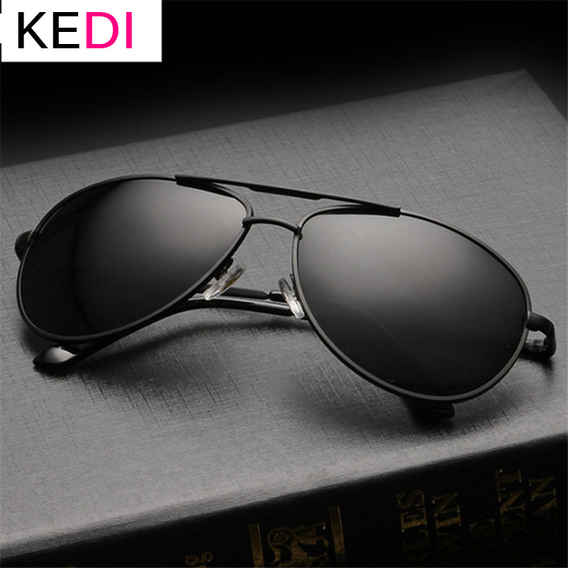 KEDI Brand Polarized Sunglasses Men Women Driving Driver Sun Glasses Vintage Rectangle Anti-UV Goggles Eyewear