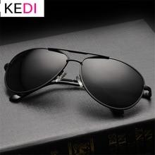 KEDI Brand Polarized Sunglasses Men Women Driving Driver Sun Glasses Vintage Rectangle Anti-UV Goggles Eyewear