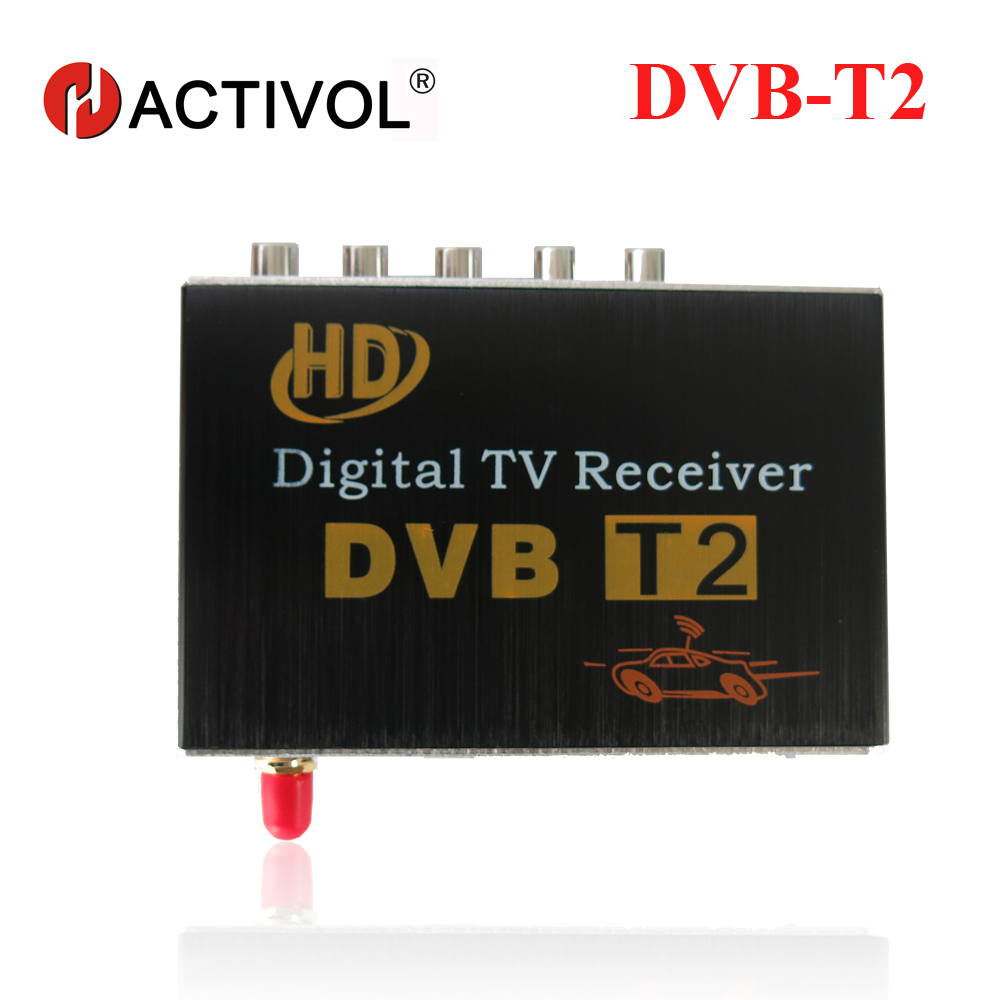 Car DVB-T2 Receiver for Russian Colombia Thailand USB DVB-T2 Android TV Tuner Car Digital Europe with Single Antenna Free Ship 60km h 1080p car dvb t2 mobile digital tv tuner receiver box for russian colombia one seg free shipping