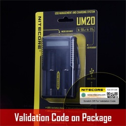 Nitecore UM20 Smart Battery Charger LCD Display Battery Charger Universal Nitecore Charger with usb cables 18650 16340 14500