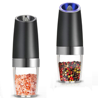 Electric Induction Pepper Mills Easy Cleaning Household Kitchen Salt Spice Containers Pepper Salt Grinders Pepper Mills
