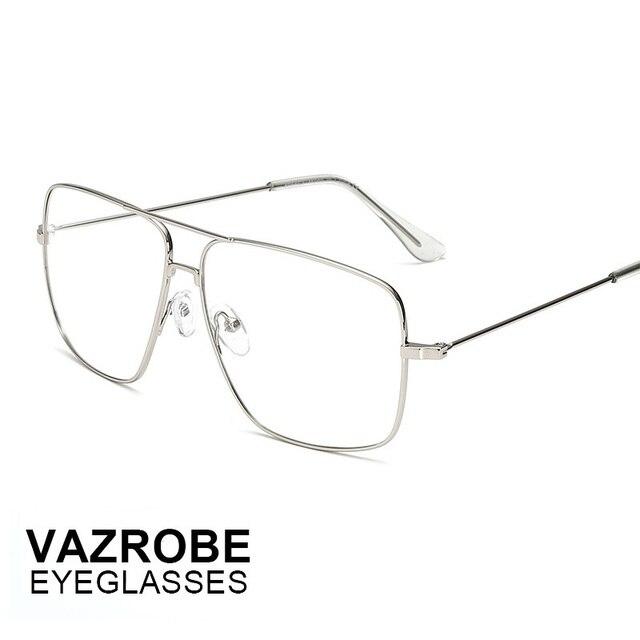 Vazrobe cheap thin Gold Glasses Men Women Optical Lens metal alloy ...
