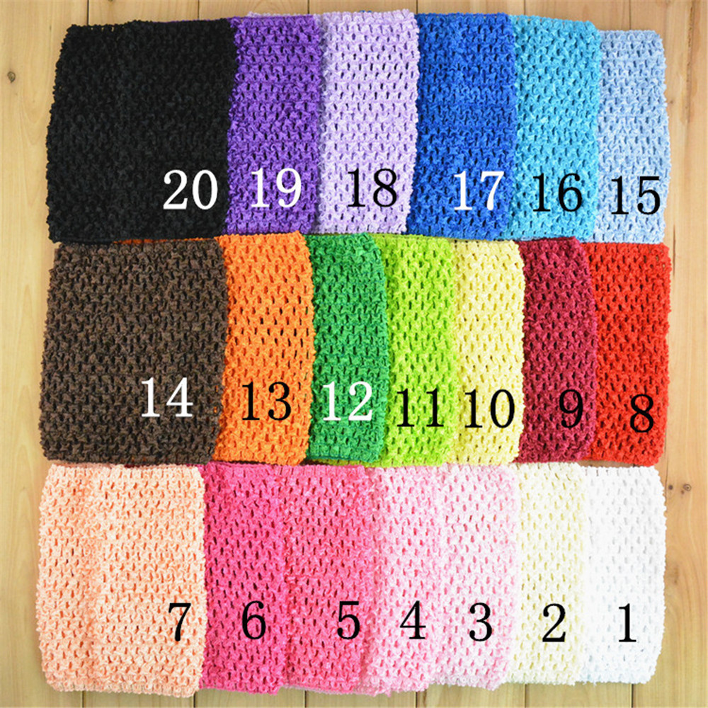 6 Inch U Choose 34 Color 10pcs/lot Crochet Waffle Tube Unlined Dress Solid & Striped Sterth Crochet Tube Waistbands