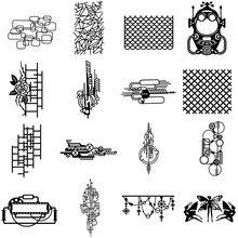 Геометрические металлические Вырубные штампы, вырубные штампы, формы для украшения скрапбукинга, тиснения, бумажные формы для рукоделия, трафареты