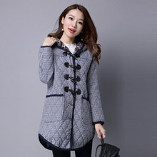 Winter Jacket Women New Casual Hooded Cotton Thick Style Fashion Loose Medium Long Autumn Plus Size