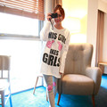 The new fashion black and white letter scale cloth female models home pajamas suit (M - XXL) white