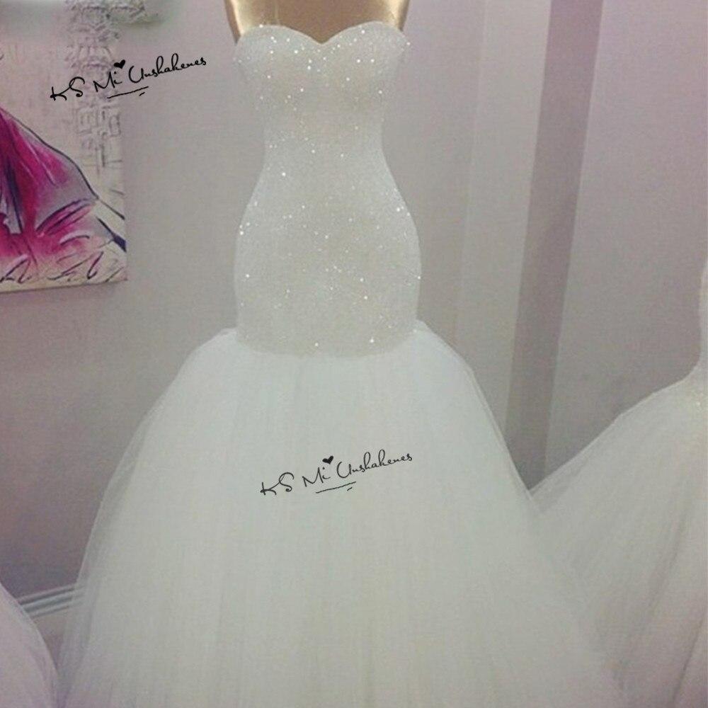 77d9428e39 US $179.2 20% OFF|Vestido de Noiva Sereia 2018 Bling Mermaid Wedding  Dresses Beads Lace up Back Turkey Wedding Gowns Boda China Bride Dress  Women-in ...