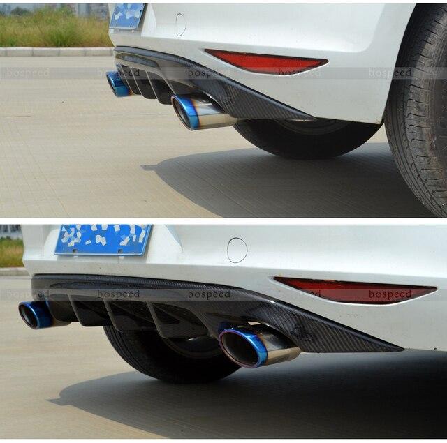 fit for volkswagen golf 7 gti revozport carbon fiber rear. Black Bedroom Furniture Sets. Home Design Ideas