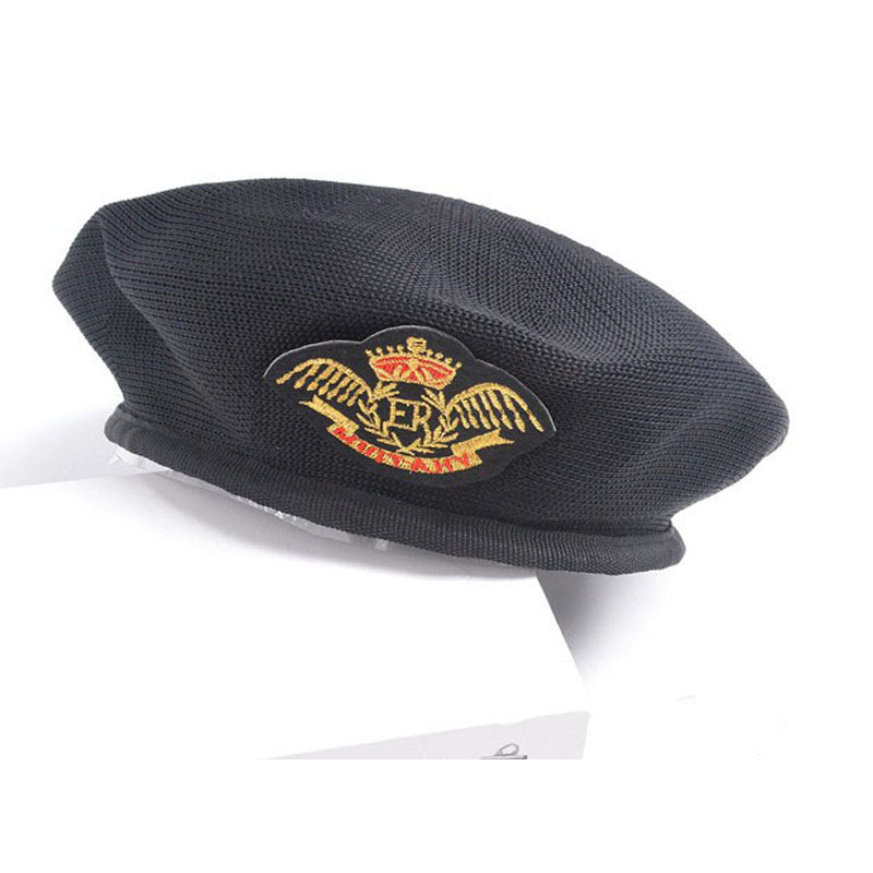 Men and Women Mesh Net Eagle Beret Hats Caps Special Forces Soldiers Death  Squads Military Hat Pure Wool Navy Cap d4adf6feb52