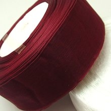 (10 yards/lot) 2 (50mm) wine color organza ribbons wholesale gift wrapping decoration Christmas D048