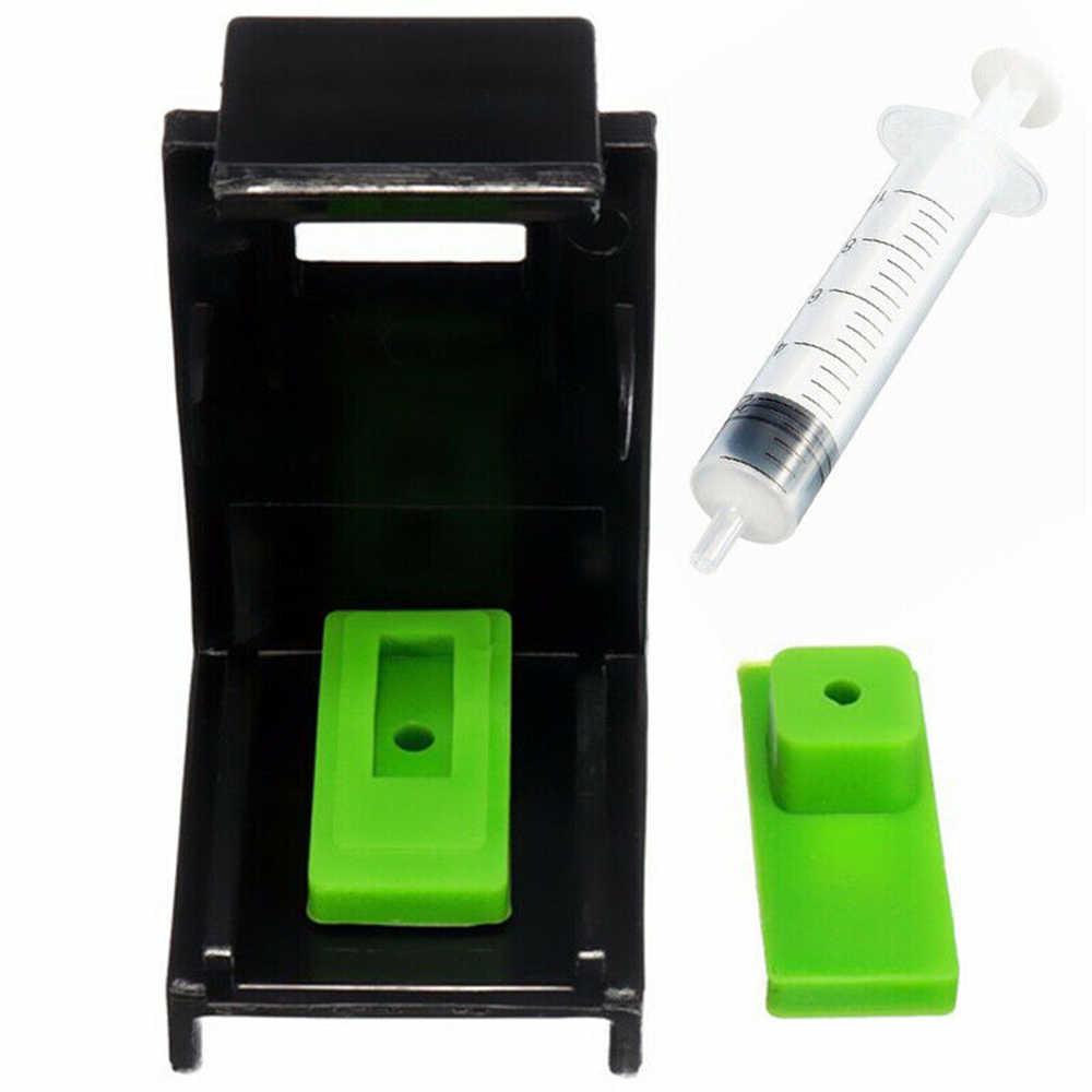 3in1 Tinta Isi Ulang Cartridge Clip 2 Pcs Karet Bantalan Jarum Suntik Alat Kit untuk Printer HP