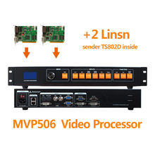 Video processor with 2pcs linsn ts802d sending card like magnimage led-500b video controller for musical festival event led wall