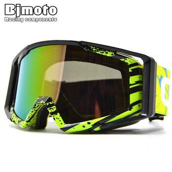 4a7a02cbad BJMOTO hombre/mujer WWII Vintage motocicleta gafas de cuero Masque Motocross  fuera de carretera Flexible gafas de ciclismo para cascos deportivos