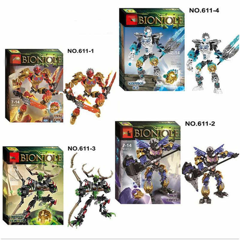 New Ksz BIONICLE series jungle Rock Water Earth Ice Fire protecto action Building Block Best Toy Compatible with LOgo toys