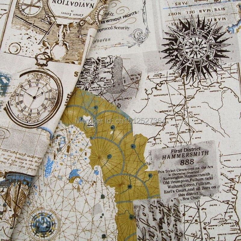 140cmx50cm navigation map printed linencotton blend fabric in 140cmx50cm navigation map printed linencotton blend fabric in fabric from home garden on aliexpress alibaba group gumiabroncs Images