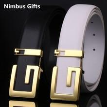 New designer belts men high quality luxury GG brand belts women genuine leather gold buckle belts for kids cinturones hombre