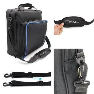 Image 2 - Handbag Multifunction Bag for PS4/PS4 PRO slim mi Original size Protect Shoulder Carry Bag Canvas Case For PlayStation 4 Consol