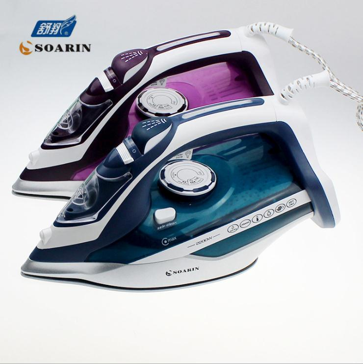Household Steam Iron for Clothes 220v Ceramic Selfcleaning Steamer Iron Clothing Burst of Steam Steam Controler Wire Ironing electric iron vitek vt 1266 for ironing irons steam household for clothes burst of steam electricsteam electriciron