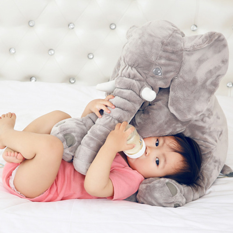 60cm Elephant Plush Soft Toy Stuffed Baby Kids Toy Animal Big Size Appease Baby Sleep Pillow Babies Calm Doll Gift TY0168 1pcs 60cm ins elephant soft pillows baby sleeping pillow stuffed elephant comforter plush animal cushion best gift for kids