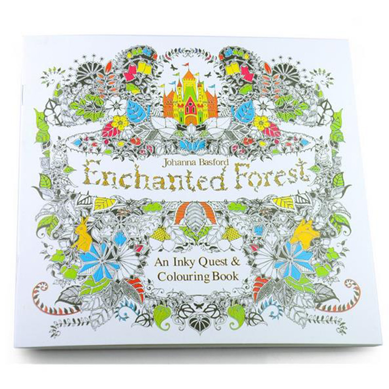 2016 New arrival Relieve Stress For Adult Painting Drawing Book 24 Pages Enchanted Forest  Kill Time English colouring books (China)