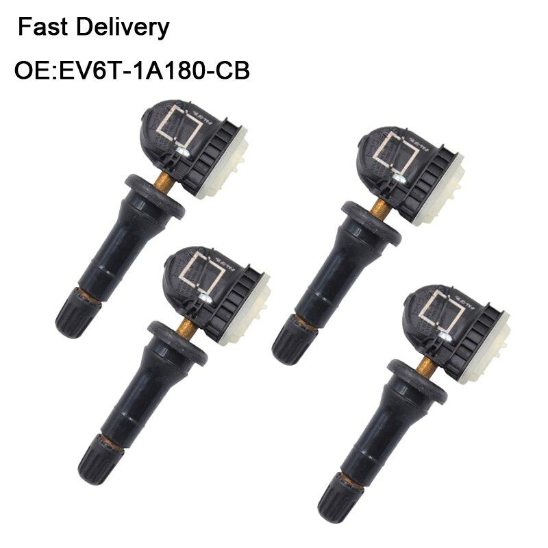 Sensor EV6T-1A180-CB Color : Black EV6T-1A150-CB Presi/ón Tire Sensores TPMS for Ford Fiesta//tr/ánsito//F-Series//Tourneo Monitor de presi/ón de neum/áticos
