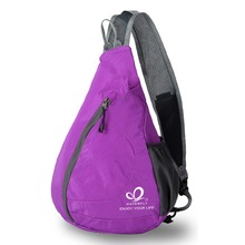 WATERFLY Outdoor Sports Cycling Foldable Casual Women Men Triangle Messenger Bag Shoulder Sling Cross Body Bag For Shopping