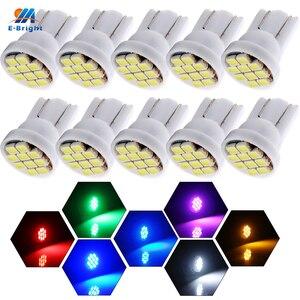 YM E-Bright 10 PCS T10 194 168 1206 10 SMD 10 LED 12V DC Interior Lighting Instrument Lights Car LED Light Auto Bulbs Mix Colors