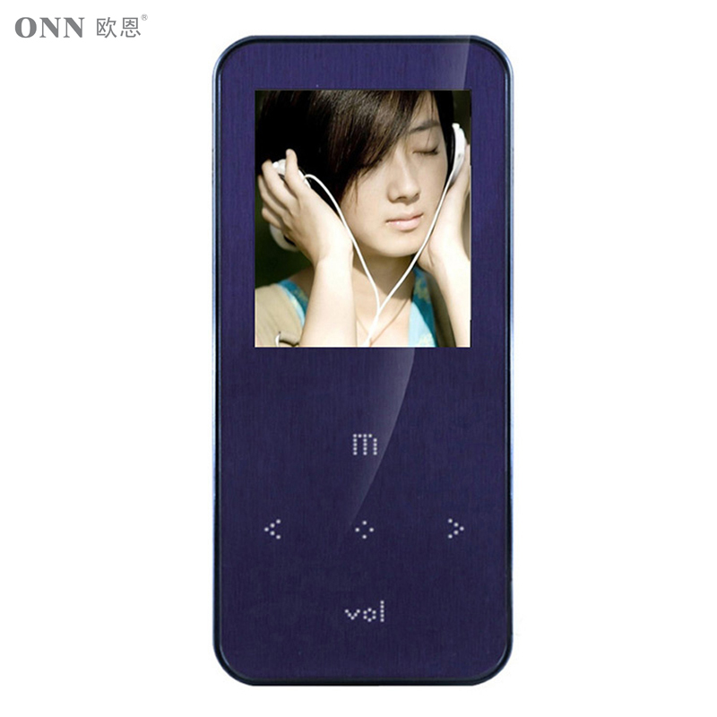 Original ONN Q9 Mp3 8GB 1 8 inch Purple Metal Mini Sport with FM Radio Music