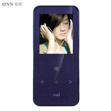 Original onn q9 mp3 8 gb 1.8 pulgadas púrpura del metal mini deporte con Radio FM de Música Mp3 de la Ayuda 1-32 GB Micro TF/Tarjeta SD