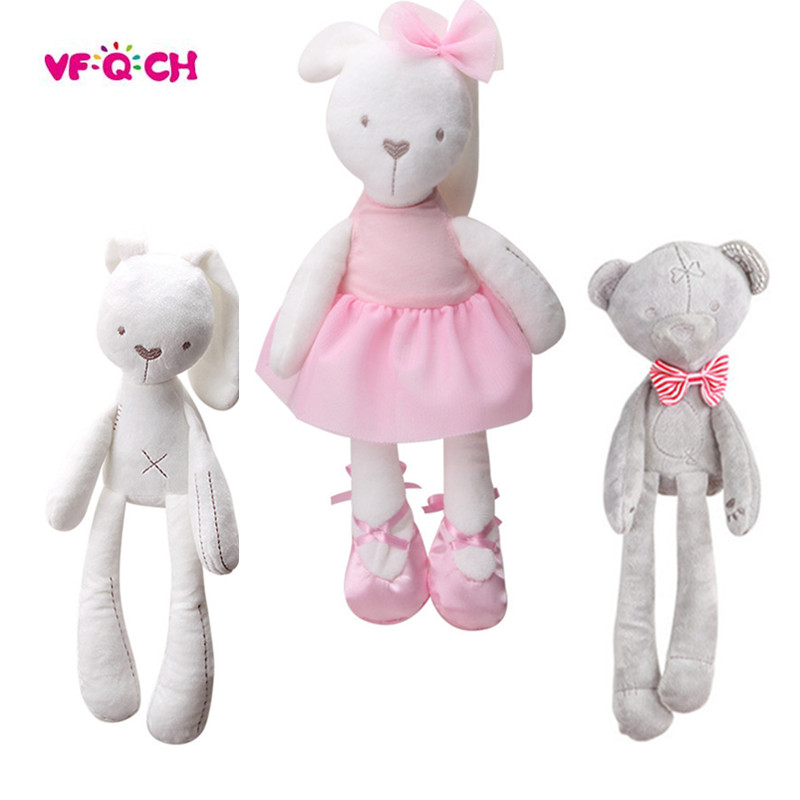 New Style Plush Stuffed Cute Appease Rabbit Bear Animal Toys Infant Baby Comfort Dolls For Children Kids Birthday Pretty Gift