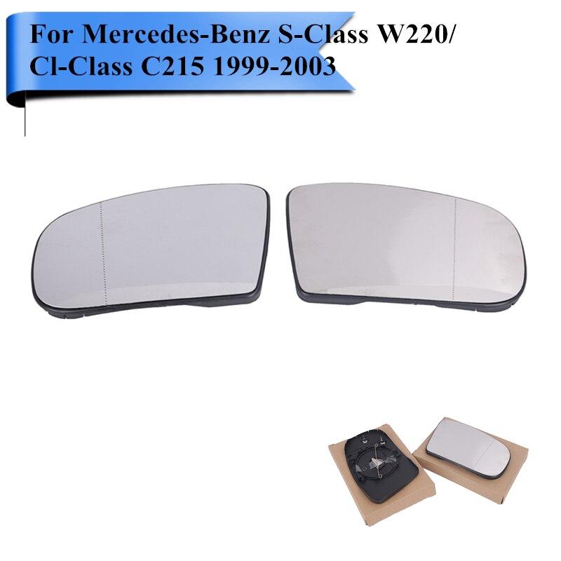 Автомобиль Экстерьер части с подогревом зеркало заднего вида стекло для Мерседес W220 W215 Бенц на s55 на s65 отчет s430 S500 и S600 в помощью cl55 CL500 cl600 в #W112
