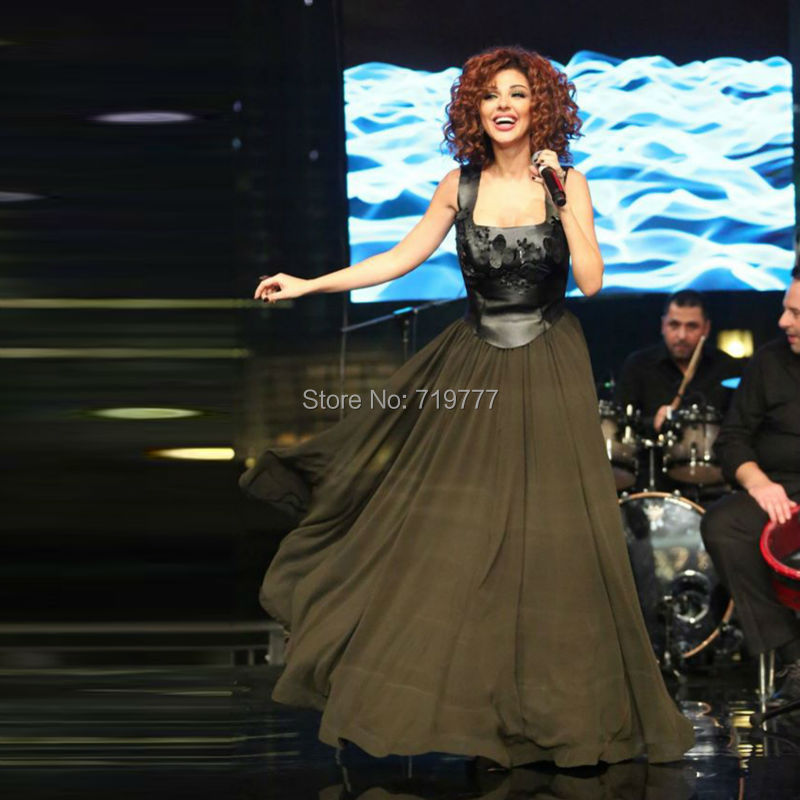 -Black-Floral-Chiffon-Myriam-Fares-Lebanon-Singer-Formal-Dresses-New-Square-Long-Evening-Party-Dress (1)