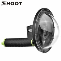 SHOOT 6 inch Diving Dome Port for Gopro Hero 4 3+ Hero 4 Silver Black Action Camera with Go Pro Float Grip for GoPro Dome Lens