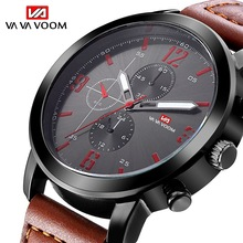 Military Mens Wrist Watches Classy Designer Watches for Men Waterproof Leather Sports Watches Leather Hardlex Quartz Clock Reloj cheap VA VA VOOM Buckle 3Bar Stainless Steel 24cm 12mm 22mm ROUND Quartz Wristwatches No package Shock Resistant Water Resistant