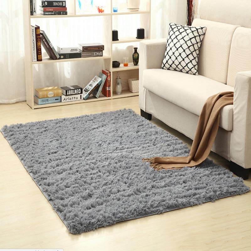 Soft Plush Anti Skid Rugs Comfortable Rectangle Indoor Floor Mats