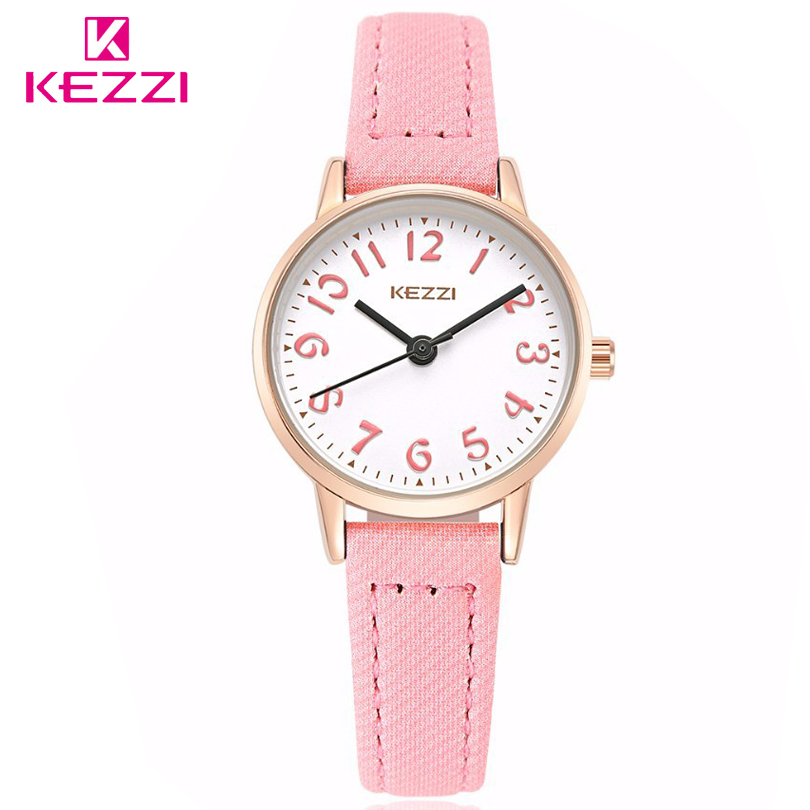 цена на KEZZI Brand Watches Fashion Models Female Students Casual Quartz Wrist Watch Fabric Strap Arabic Numerals Dial Girl Wristwatches