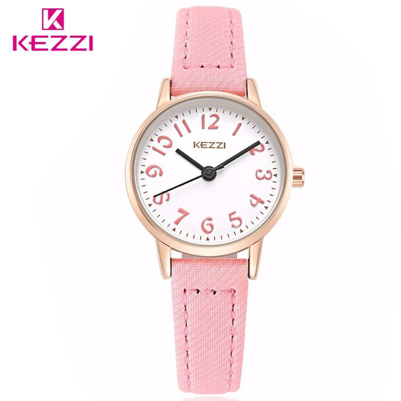 KEZZI Brand Watches Fashion Models Female Students Casual Quartz Wrist Watch Fabric Strap Arabic Numerals Dial Girl Wristwatches