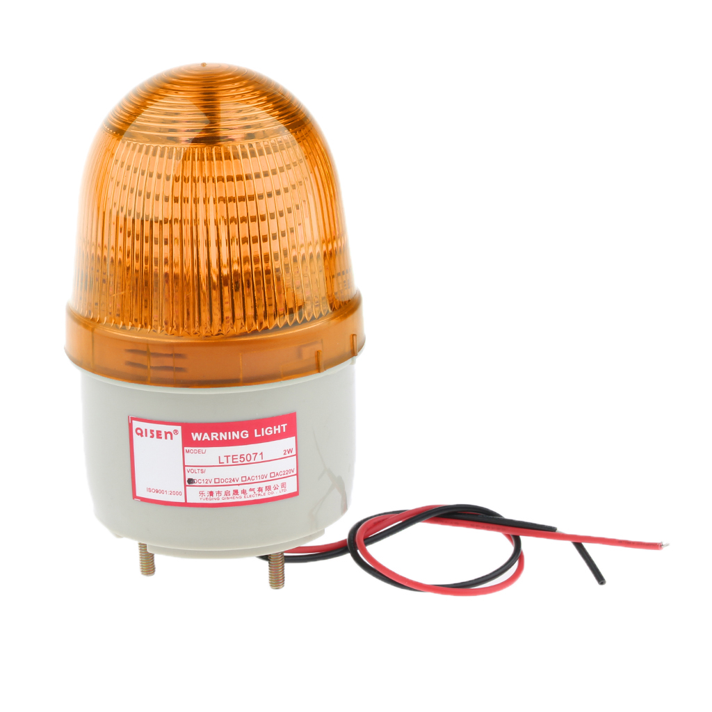 12v Flash Strobe / Always On Warning Light Round Signal Beacon Lamp Yellow Easy And Simple To Handle