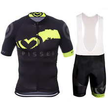 Pissei 2019 Team Cycling Clothing Bike Jersey Ropa Ciclismo Mens Bicycle Shirts Summer Pro Cycling Jerseys 9D Pad Bike Shorts цена и фото