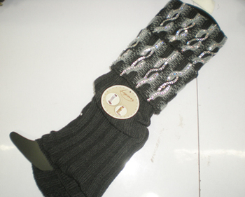 winter rhinestone Knitted Leg Warmers 24 pairs/lot mixed colors #3414
