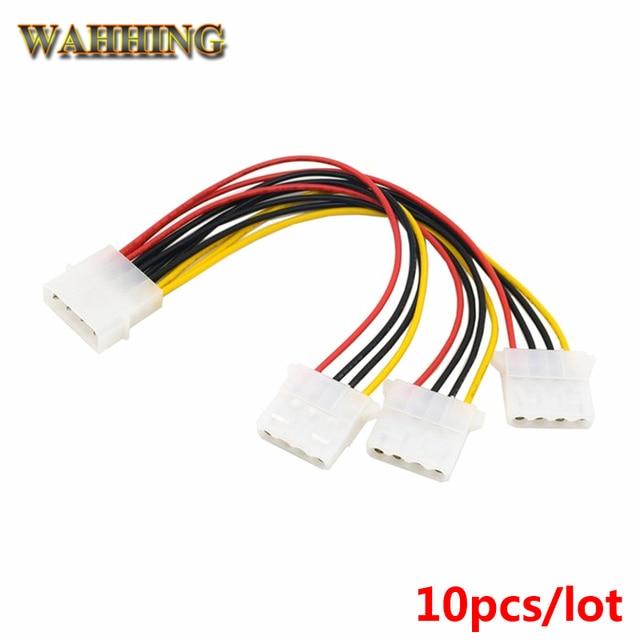 10pcs 4 pin molex male to 3 port molex ide female power supply rh aliexpress com