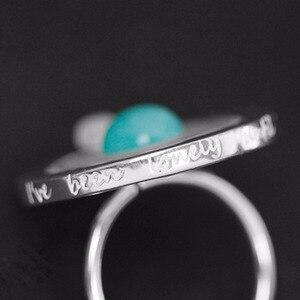 Image 3 - Lotus Spaß Echt 925 Sterling Silber Valentinstag Geschenk Sie Sind Mein Planeten Kreative Design Handgemachtes Feine Schmuck Drehbare ring