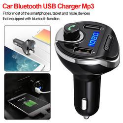 Bluetooth автомобильный набор, свободные руки, FM передатчик беспроводной с функцией громкой связи MP3 аудио музыкальный плеер автомобильное